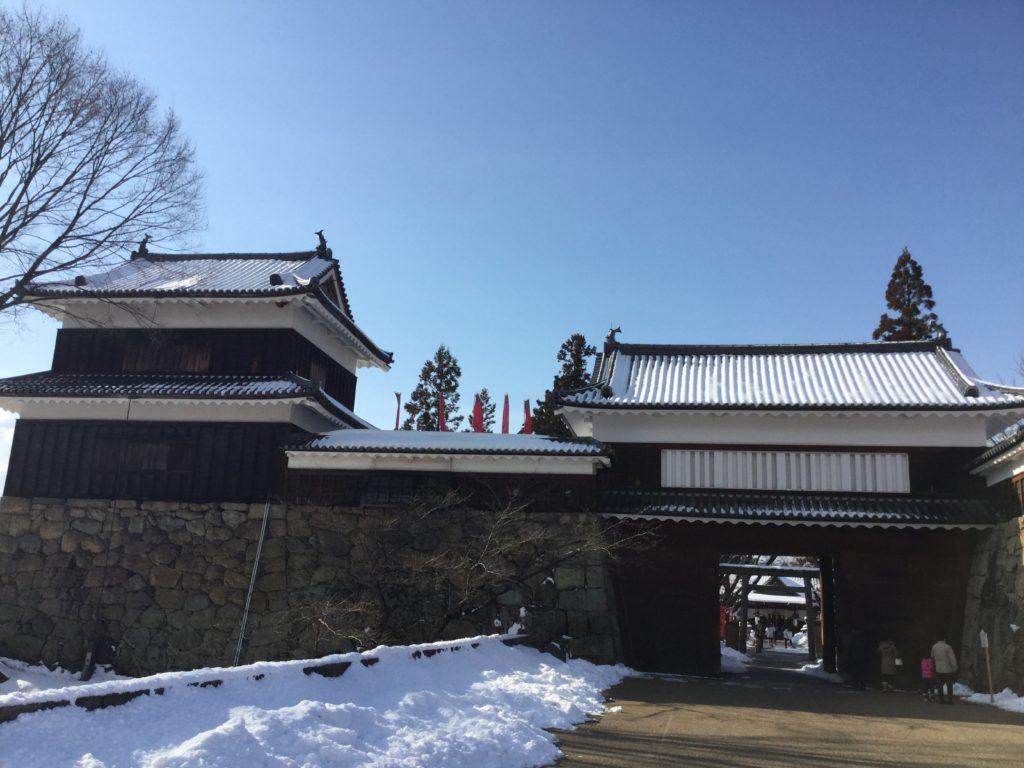 コーチングスクール勉強会と真田ゆかりの上田城に行ったら雪だった